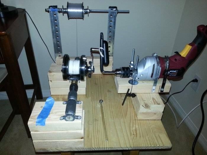My diy electric line winder saltwater fishing forums for Fishing line winder machine
