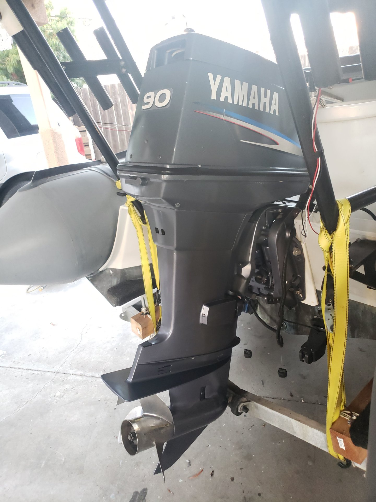 For Sale Yamaha Outboard Motor 90hp With All Wiring Binnacle 3350 Bloodydecks