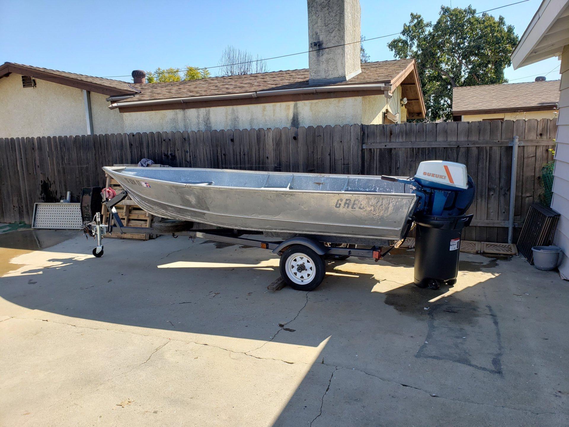 For Sale - 14 Ft Gregor Aluminum Boat- 16 Hp Engine | Bloodydecks