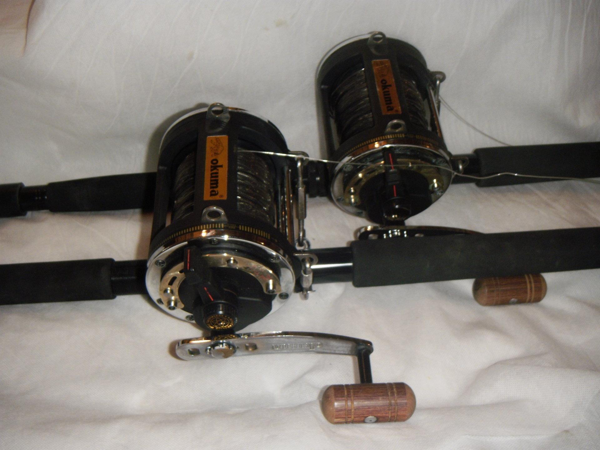 OKUMA 80W Lever Drag Reelson  Shakespeare Fishing Rods BWSU1150130     Just $800. pair pic 001.JPG