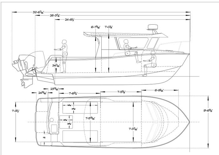 Xtaero Boats initial sketch XT28DV - draft.png
