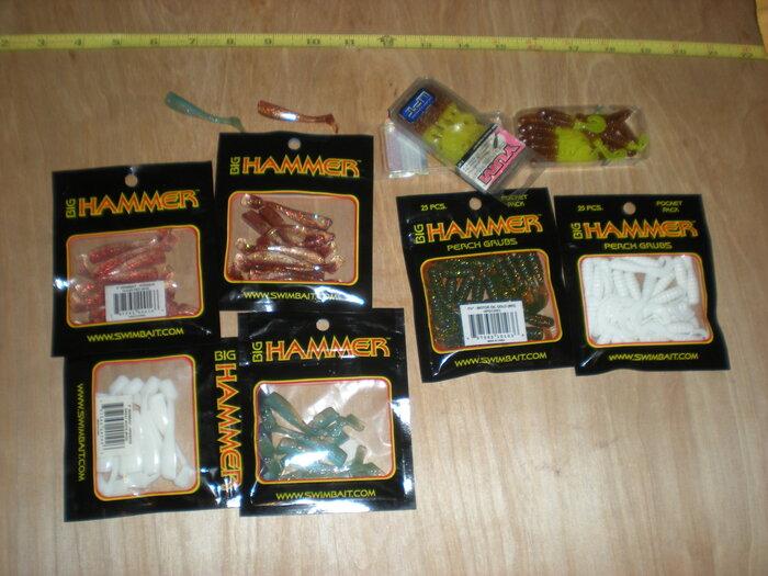 120 Small Plastic grub swimbait lot 1.JPG