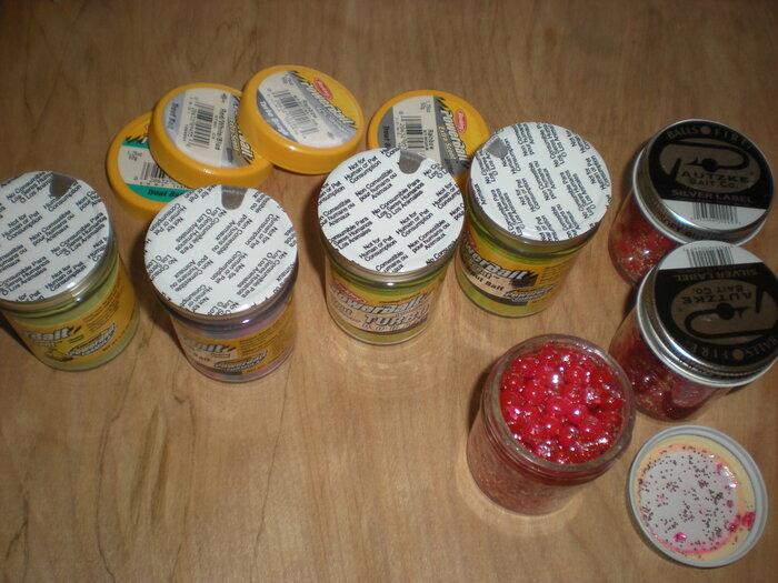 7 Jars Powerbait and Salmon Eggs2.JPG