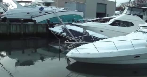 Hurricane Sandy Boat Damage Video