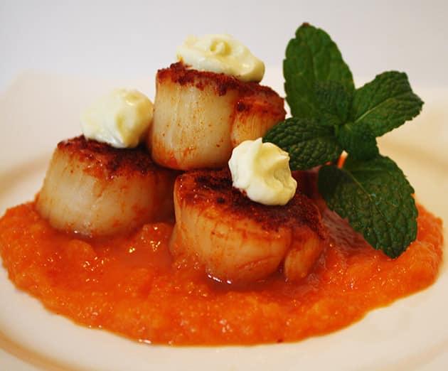 paprika crusted scallop recipe