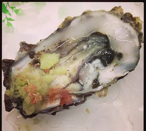 Oysters Tomatillo Granita