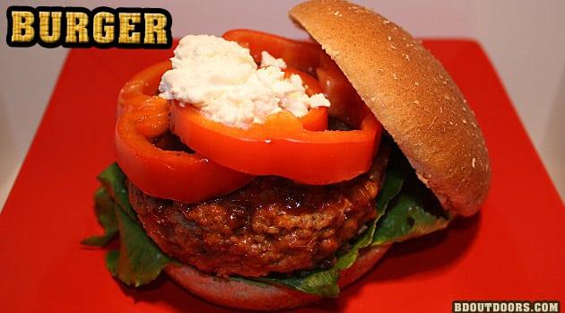game recipe wild boar burger