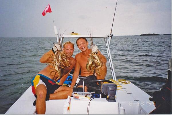 lobster diving