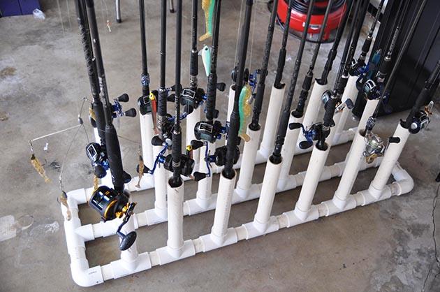 Diy Rod Racks For The Garage Diy Fishing Rod Holders For