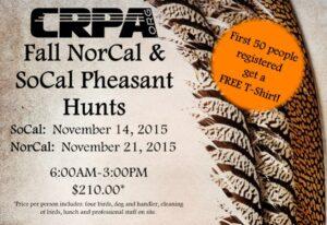 crpa hunt - pheasant hunt