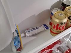 caulk fridge