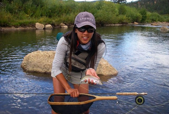 Michelle Bowman fly fishing