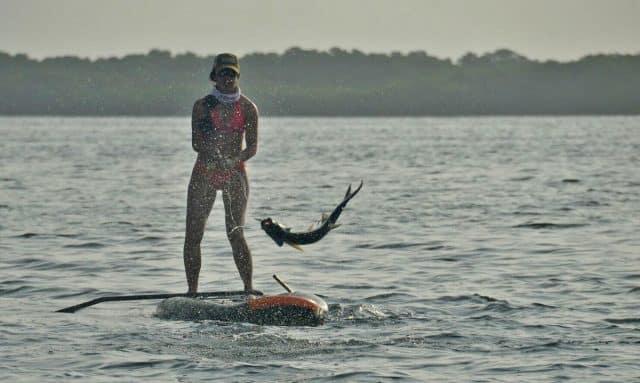 Michelle Bowman paddleboard fishing