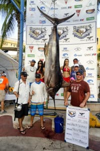 blue marlin after a 48-minute fight