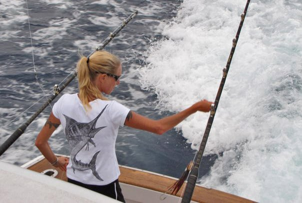 Carol Lynne fishing chicks