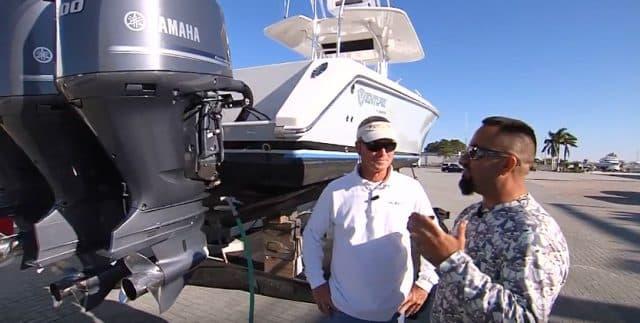 flushing outboard boat motor