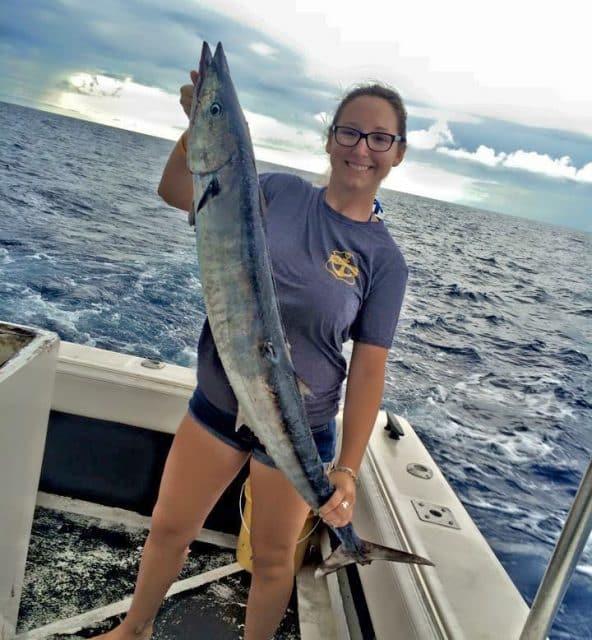 wahoo fishing caught by Lauren Parker