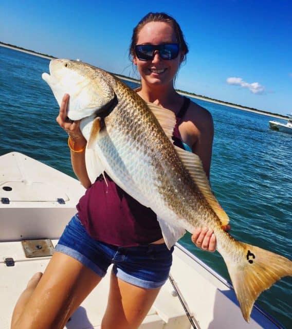 ladies fishing caught fish