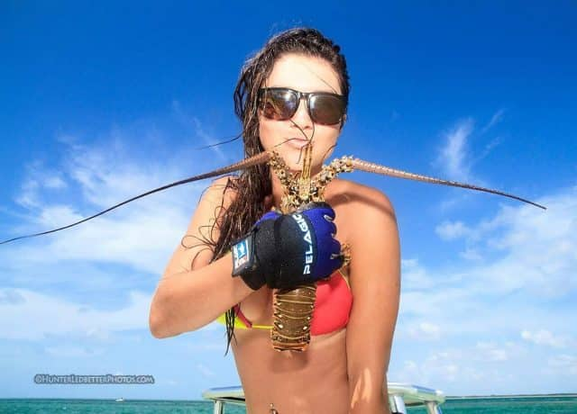 fishing chick posing