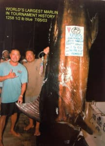 Capt. Bomboy Llanes caught a 1,258.4-pound blue marlin back in 2003