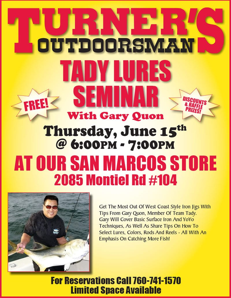Tady Lures Seminar Turner's Outdoorsman