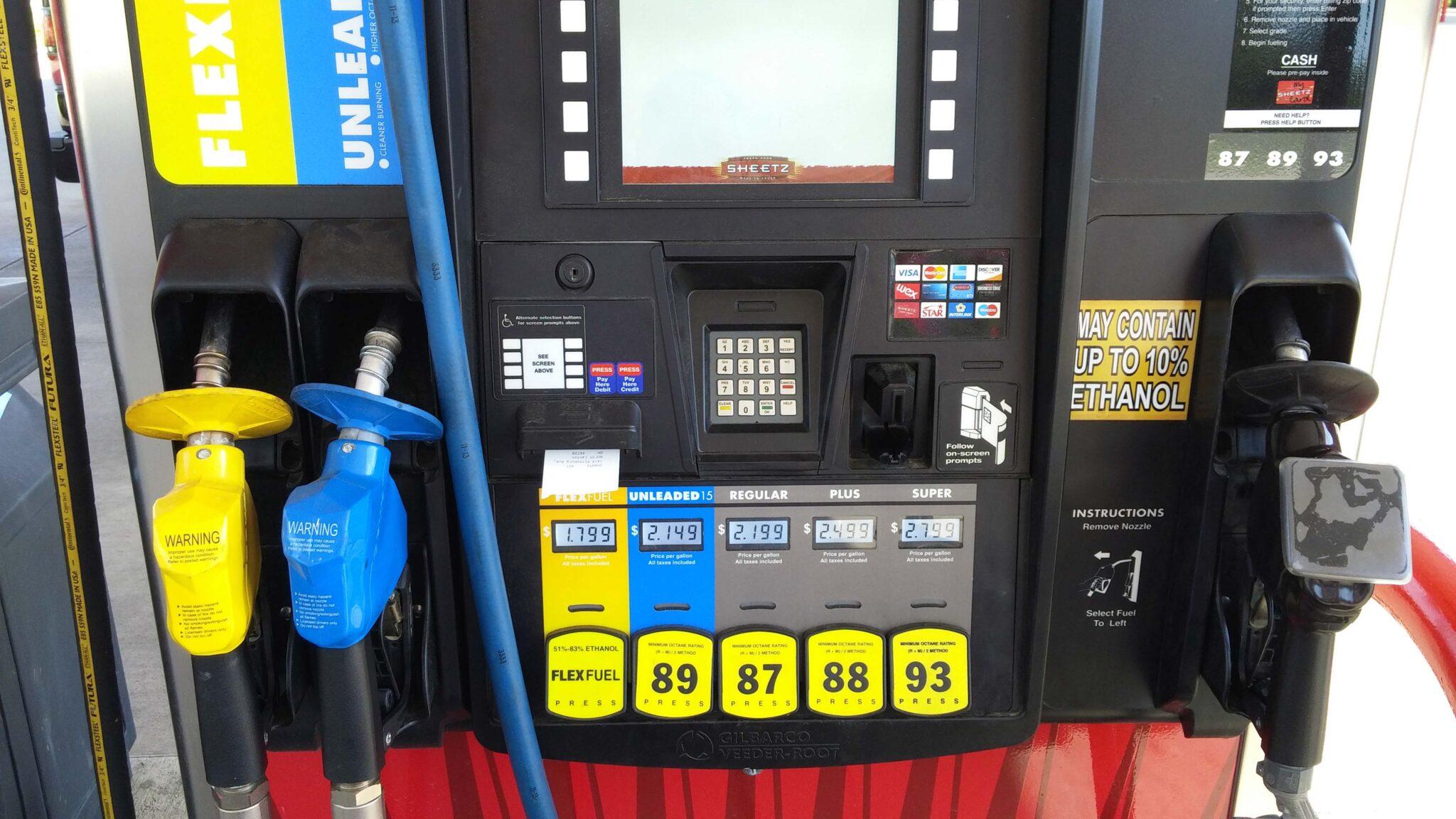 Ethanol input