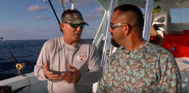Fly Navarro talks kite fishing tips with Capt. Ray Rosher