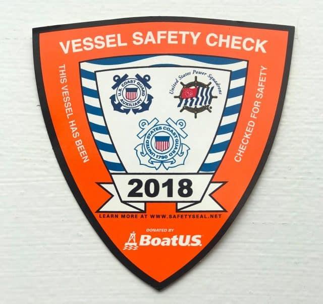 free vessel safety check sticker