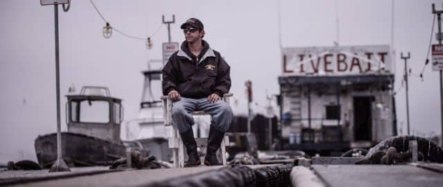 Justin Henry on the San Diego bait barge