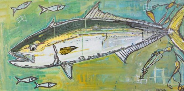 yellowtail painting chovy art