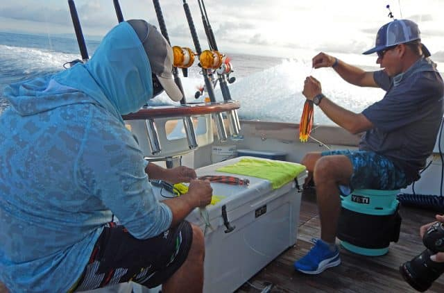 rigging baits and lures for marlin