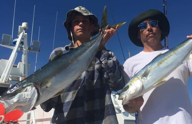 Coronado Islands yellowtail bite for the San Diego