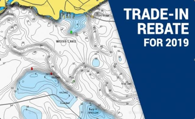 Navionics chart chip trade in rebate