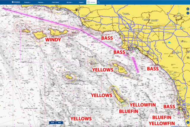 southern california fishing chart
