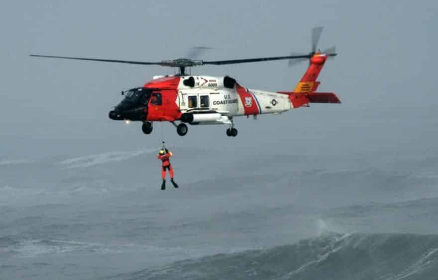 us coast guard rescue in horrible weather