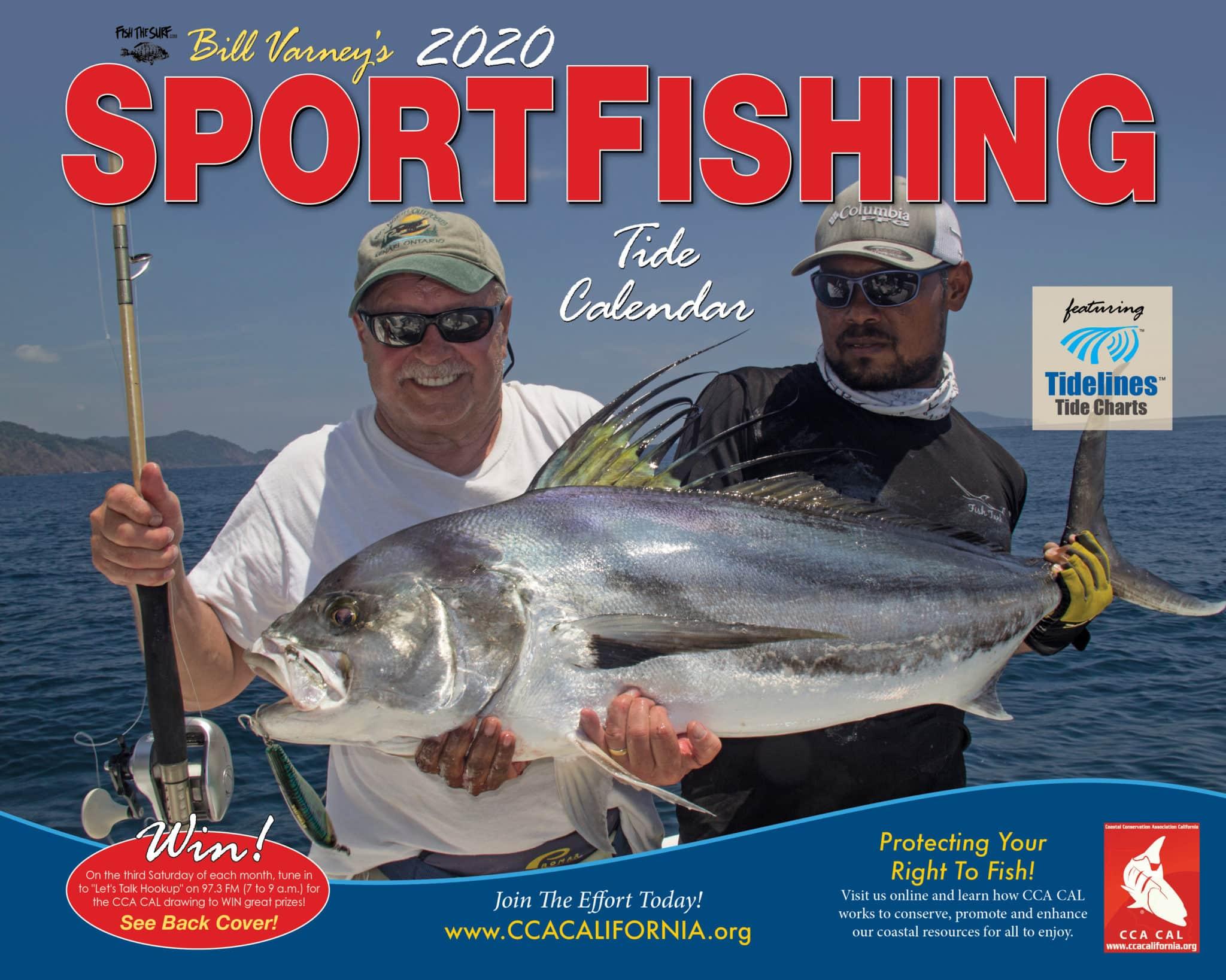 2020 CCA CAL Sportfishing Tide Calendar