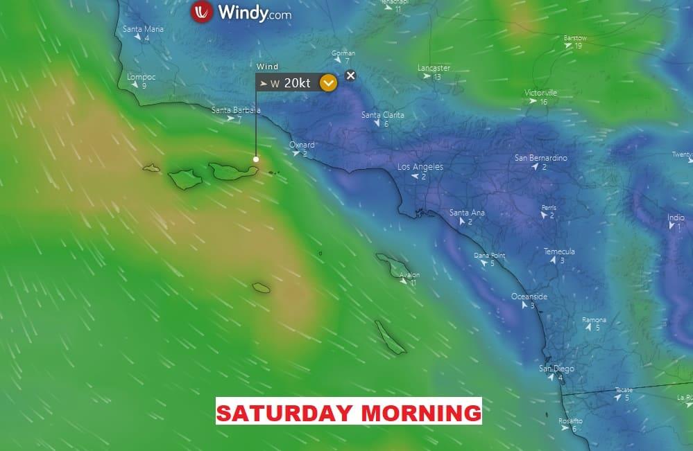 wind reports socal