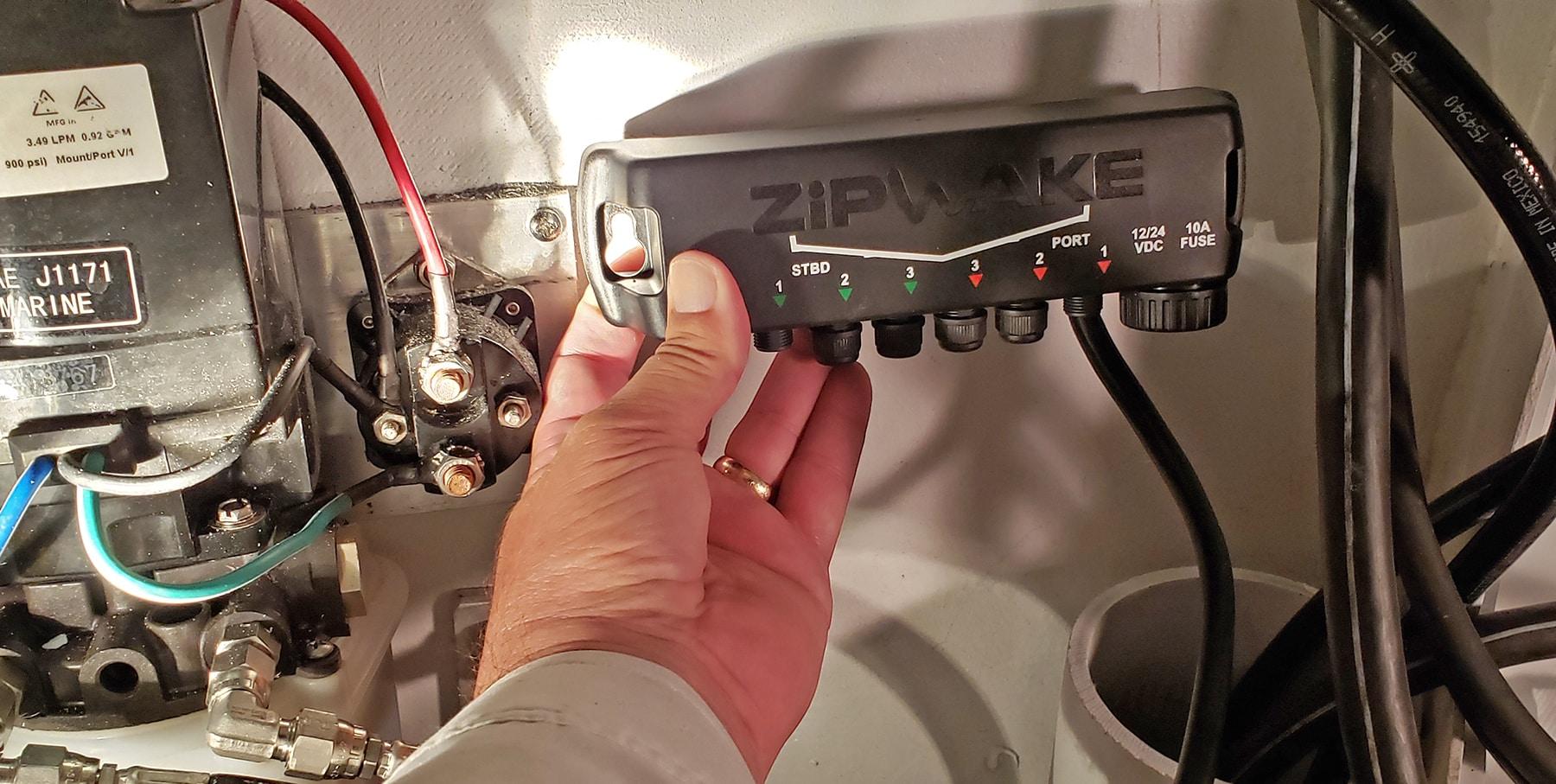 Zipwake trim system