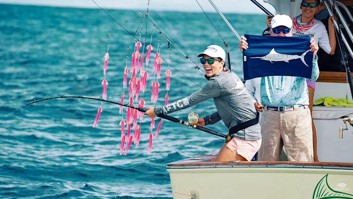 Female angler costa rica