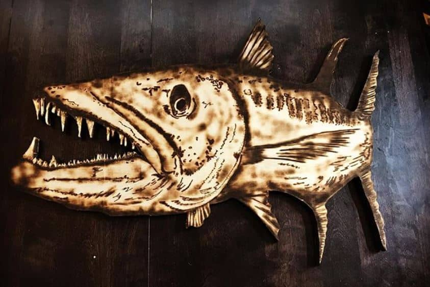wood carved fish