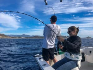 Female Baja angler