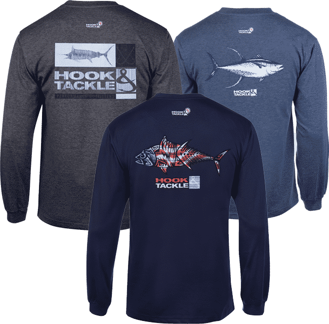 Major League Fishing Crossed Hooks Quick Dry Polyester Men/'s Long Sleeve T-Shirt
