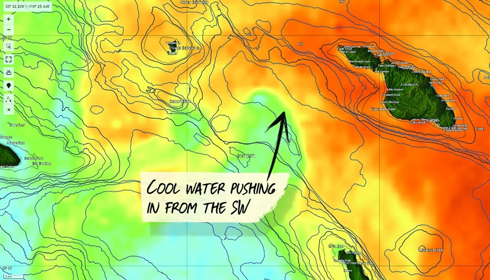satellite fishing charts