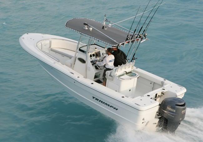 plastic hull boat
