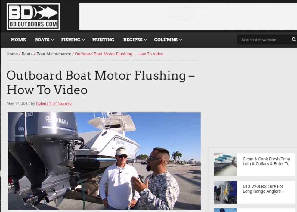 flushing outboard engines