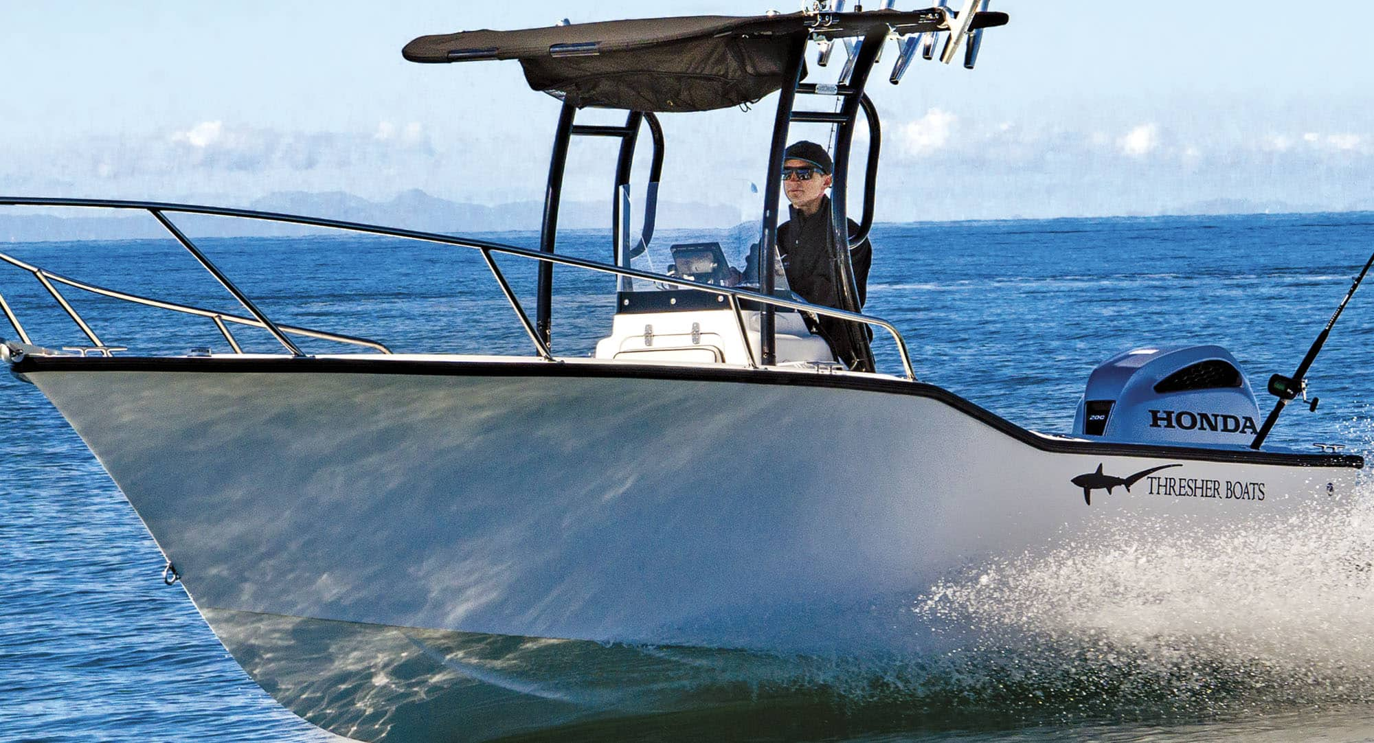 Thresher Boats center console
