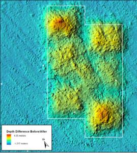 side-scanning sonar image