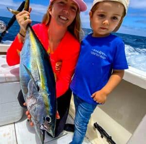 kid caught yellowfin