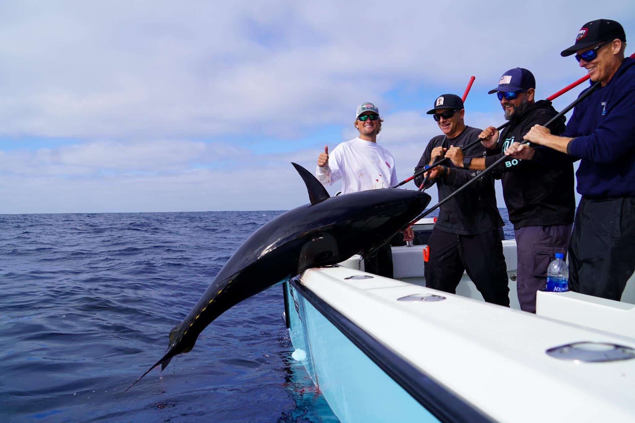 Bluefin tuna on the rail
